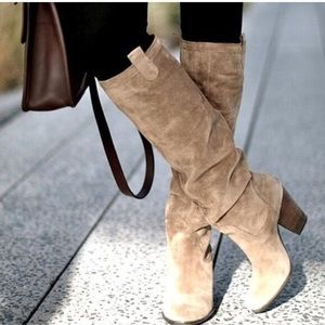 Vince Camuto 'Braden' Knee High Taupe Suede Boots